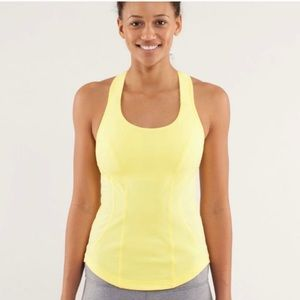 Lululemon Cardio Kick Tank  Mellow Lemon